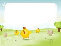 Ostern-und Frühlingslandschaft Stockbild
