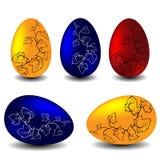 Ostern-Vektor eingestellt - Eier Stockbild