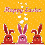 Ostern-Vektor-Kaninchen-Vektor Lizenzfreie Stockbilder