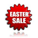 Ostern-Verkauf in der roten Blumenfahne Stockfoto