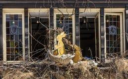 Ostern verzierte Fenster in Colmar Stockfotos