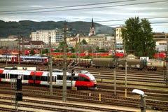 Osterreichische Bundesbahnen, Linz, Oostenrijk royalty-vrije stock foto's
