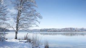 Osterseen witner scenery Stock Image