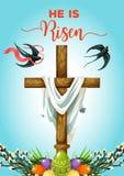 Ostersonntag Kreuz mit Eigrußkarte