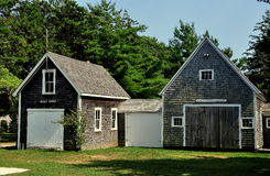 Osterville, MA: Crosby Boat Shops at Historical Society Stock Photo