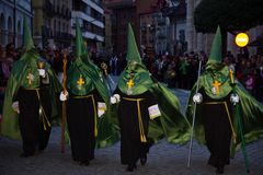 Osterwoche in Valladolid stockfoto