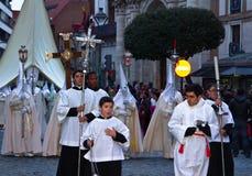 Osterwoche in Valladolid stockbild