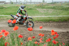 Osteuropäische Supermoto-Meisterschaft 2013 Lizenzfreies Stockfoto