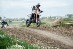 Osteuropäische Supermoto-Meisterschaft 2013 Lizenzfreies Stockbild