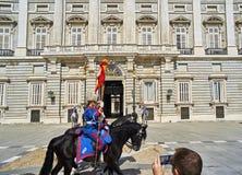 Ostfassade von Royal Palace von Madrid, Spanien Lizenzfreies Stockbild