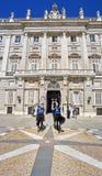 Ostfassade von Royal Palace von Madrid, Spanien Lizenzfreie Stockfotografie