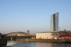 Osthafen Frankfurt and ECB building at dawn Stock Images