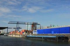 Osthafen område Fotografering för Bildbyråer