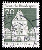 Osthofen port, Soest, Westfalen, serie, circa 1967 royaltyfria foton