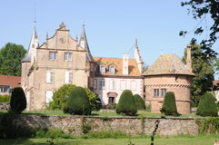 Osthoffen Castle. Is located in Alsace, France. The castle is built in the renaissance style Royalty Free Stock Image