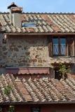 ostia的意大利房子 免版税库存照片