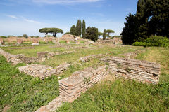 Ostia ancient ancient archaeological rome roma Italy Stock Image