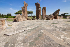 Ostia ancient ancient archaeological site Stock Photography