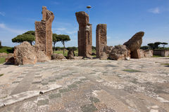 Ostia ancient ancient archaeological site Royalty Free Stock Images