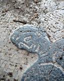 Ostia Antica,古老罗马马赛克 免版税库存图片