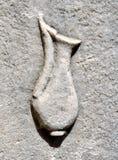 Ostia Antica,雕刻油罐 免版税库存照片