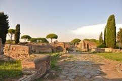 Ostia Antica - αρχαία πόλη Στοκ εικόνα με δικαίωμα ελεύθερης χρήσης