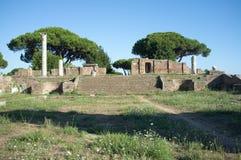 Ostia Antica στη Ρώμη Στοκ Φωτογραφία