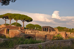 Ostia Antica -古城 免版税库存照片