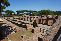 Ostia Antica ancient ruins. Rome - Italy royalty free stock images