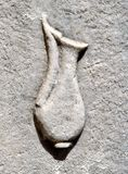 Ostia Antica, carving of an amphora royalty free stock photos
