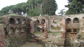 Ostia Antica - de oude haven van Rome Stock Afbeeldingen
