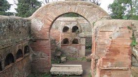 Ostia Antica - de oude haven van Rome Stock Afbeelding