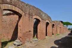 Ostia Antica dichtbij Rome in Italië Stock Foto