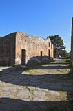Ostia Antica excavations, with a view of the ruins Royalty Free Stock Image