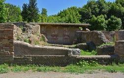 Ostia Antica fördärvar Arkivfoto
