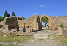 Ostia Antica fördärvar Arkivfoton