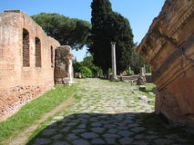 Ostia Antica Piazza Stock Photography