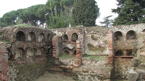 Ostia Antica - Rome's ancient harbour Stock Images