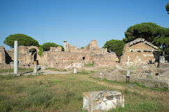 Ostia Antica in Rome Royalty Free Stock Photos