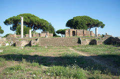 Ostia Antica in Rome Stock Photography