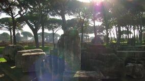 Ostia Antica, Rzym antyczny schronienie - Fotografia Stock