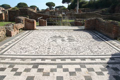 Ostia antica's ruins. Ruins of ostia antica, around Roma, in Lazio, in Italy Stock Image