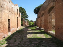 Ostia Antica Starada Royalty Free Stock Photos