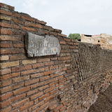 Ostia ruins and walls in Rome Stock Photography