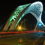 Ostiense Bridge Rome. Night vision of Ostiense Bridge, Rome Royalty Free Stock Image