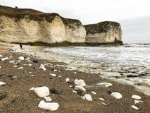 Ostküste in flamborough Vereinigten Königreichs stockbilder