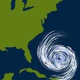 Ostküste-Hurrikan-Zeichnung stock abbildung
