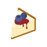 Ostkaka med blåbäret Arkivbild