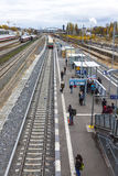 Ostkreuz S-Bahn suburban railway station in Berlin, Germany Royalty Free Stock Photo