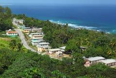 Ostkust av Barbados som är karibisk Fotografering för Bildbyråer